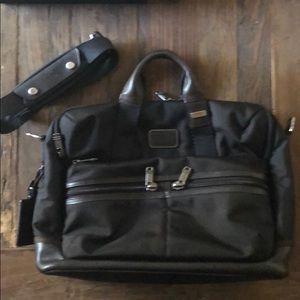 Tumi nylon/leather briefcase
